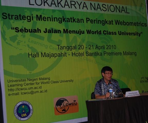 Lokakarya Nasional Strategi Meningkatkan Peringkat Webometrics