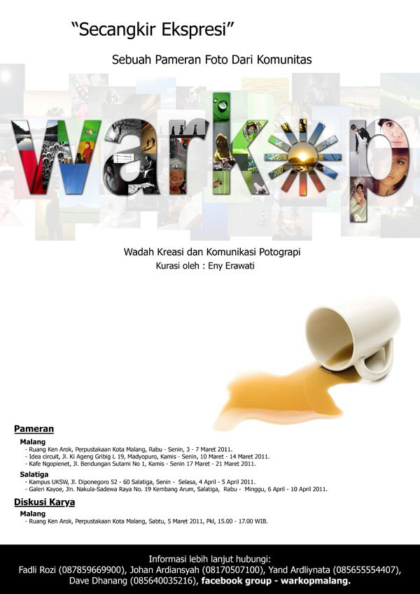 Poster Pameran komunitas Fotografi di Malang