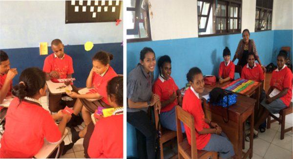 Suasana diskusi siswa dalam materi didampingi guru dan tim Youth Choose