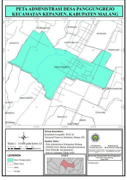 Mahasiswa Kkn Um Lakukan Pembaruan Peta Administrasi Desa Panggungrejo Berkarya Dan Terus Berkarya Um