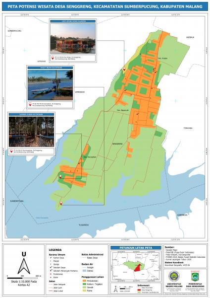 Dukung Pembangunan Desa Wisata Mahasiswa Kkn Um Inisiatif Luncurkan Peta Di Desa Senggreng Berkarya Dan Terus Berkarya Um